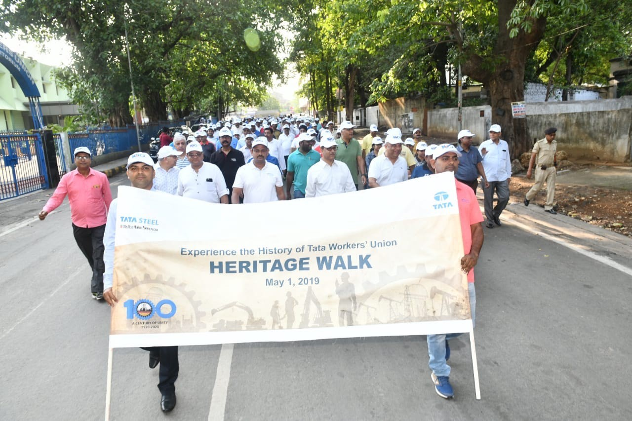 Hundreds gather for the Heritage Walk on Labour Day to