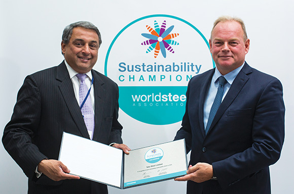 Steel Sustainability Champions 2018 recognition by World Steel Association
